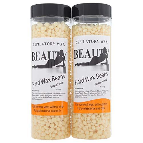 Bonjanvye Hair Removal for Men Hard Wax Strip Free Hard Wax Beans 800g Cream