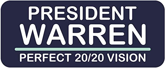 Vote Elizabeth Warren President Sticker Perfect 2020 Vision Campaign 4-inch Vinyl Decal Label Die-Cut for Volunteers Staff Supporters constituents got a Plan Water Bottle Bumper Home School Gift
