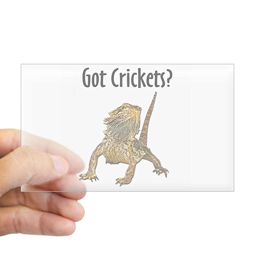 CafePress Bearded Dragon Got Crickets Rectangle Sticker Rectangle Bumper Sticker Car Decal