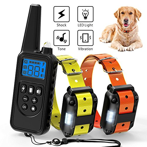 Ace Teah Dog Shock Collar with Remote, Large Dog Training Collar...