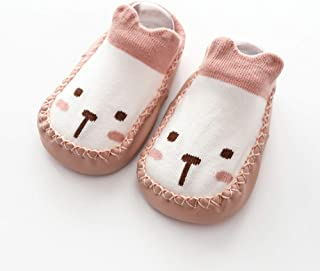 TZOU Newborn Babies Full Cotton Cartoon Imitation Shoes Stereo Children Baby Socks 0-3 Years Old Milk White 11cm