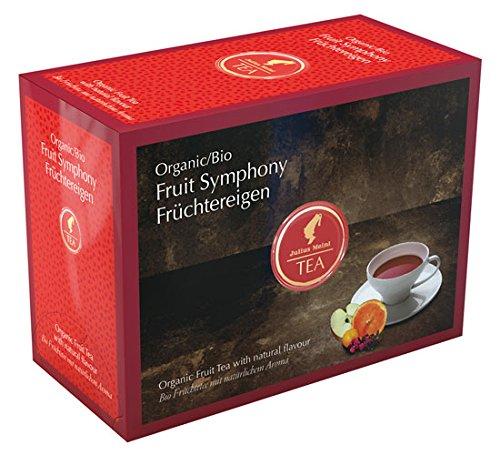 Julius Meinl BIO Früchtereigen Big Bag (1 Teebeutel für ca. 1 lt. Wasser), Bio Früchtetee mit natürlichem Aroma - 20Beutel - 2x