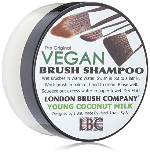 London Brush Company Maquillaje Pincel Jabón Lbc Vegan Solid Brush Champú: Young Coconut 2oz, 1pieza