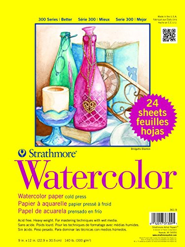 Strathmore Paper 300 Series Watercolor Class Pack, Cold...