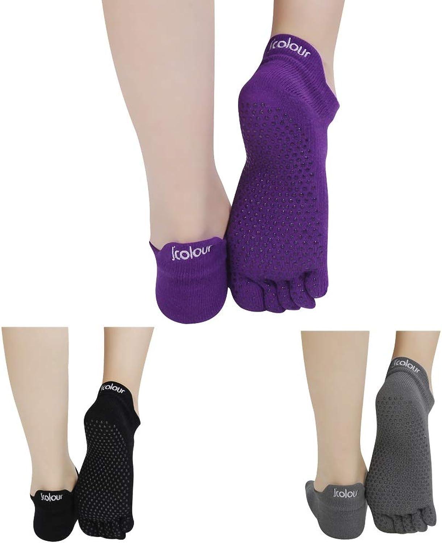 ed0832826 ... Toe Socks Barre Full ntagbf3458-Sporting goods. J'colour Women's Low  Rise Full Toe Grip NonSlip for Ballet, Yoga, Pilates