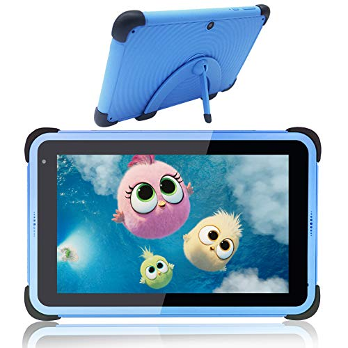 Kids Tablet 7 inch IPS HD Display Android 10 Learning Tablets for Boys, Parental Control & Google Play Pre-Installed, 32GB ROM, WIFI Tablet for Kids, Kid-Proof Case with Stand, Blue