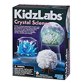4M Kidzlabs Crystal Science Kit – DIY STEM Toys Lab Experiment, Educational Gift for Kids & Teens