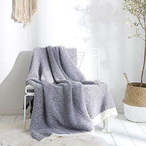 FGDSA Mantas de sofá para adultos, mantas de ropa de cama súper suaves y cálidas, manta de punto superior peinada, manta de microfibra de poliéster para otoño e invierno, sofá de ocio