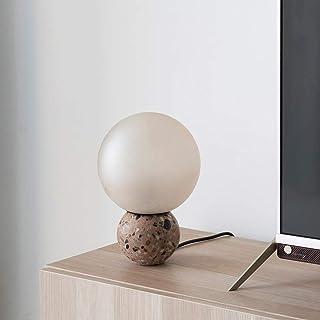 Lampe de Table Lampe Ronde Terrazzo Table Lampe, Lampe de Chevet dans Salon et Chambre à Coucher, Lampe de Lecture dans l'...