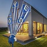 Hamburger SV Logo Projektor Fanartikel | LED-Motivstrahler HSV-Logo | HSV Beleuchtung für Hamburg Supporter (blau/weiß) 08630