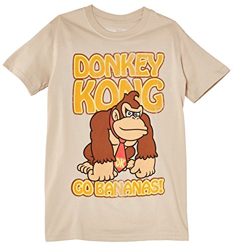 Official Nintendo Donkey Kong Go Bananas T-shirt for Adults, Sand, S, L