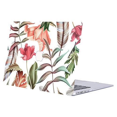 ACJYX Compatible con MacBook Pro de 15 pulgadas con pantalla Retina (modelo A1398 versión anterior 2015 2014 2013 finales 2012), diseño de impresión de plástico rígido, flores y hojas