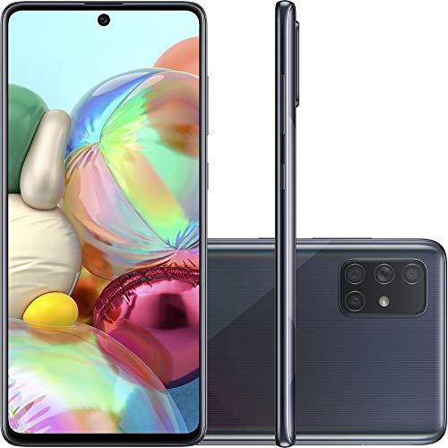 "Celular SAMSUNG Galaxy A71 Preto 6GB 128GB Tela 6.7"" Camera Quadrupla 64Mp + 12Mp + 5Mp + 5Mp, SM-A715FZKPZTO"
