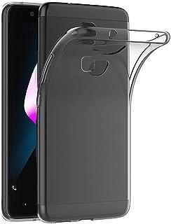 REY Funda Carcasa Gel Transparente para BQ AQUARIS V/VS, Ultra Fina 0,33mm, Silicona TPU de Alta Resistencia y Flexibilidad