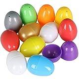 TRIXES Paquete de 12 Coloridos Huevos de Pascua Vacíos para Llenar de Sorpresas