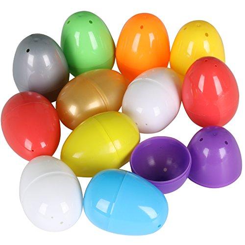 Lot de 12 œufs de Pâques colorés vides à remplir avec une surprise par TRIXES