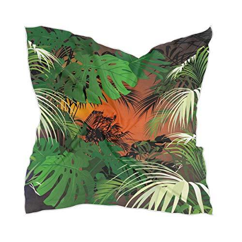 XiangHeFu dunne mysterieuze tropische jungle zijden sjaal hoofddeksel vrouwen scheren zakdoek chiffon