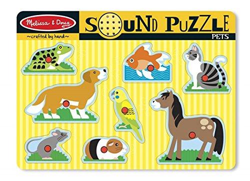 MaMeMi Puzzle SONORE - Animaux domestiques [Jouet]