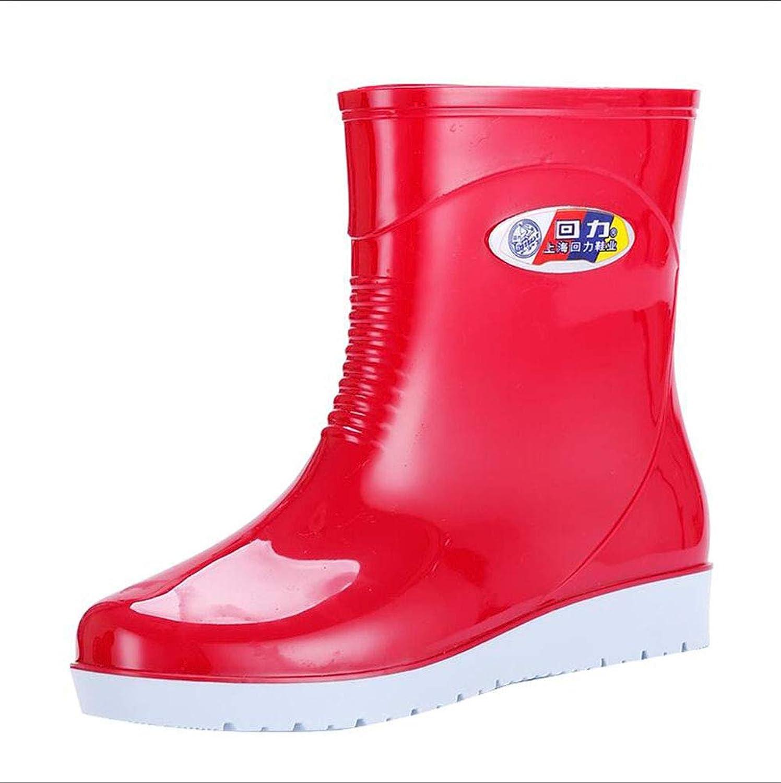 HRFHLHY Schlittenschlittenes, warmes und bequemes Deodorant-Mode-Regenstiefel inmitten der Barrel Damenschuhe in die Wasserdichten Kinderschuhe,rot,37  | Charmantes Design  | Spielzeugwelt, fröhlicher Ozean  | Zuverlässiger Ruf