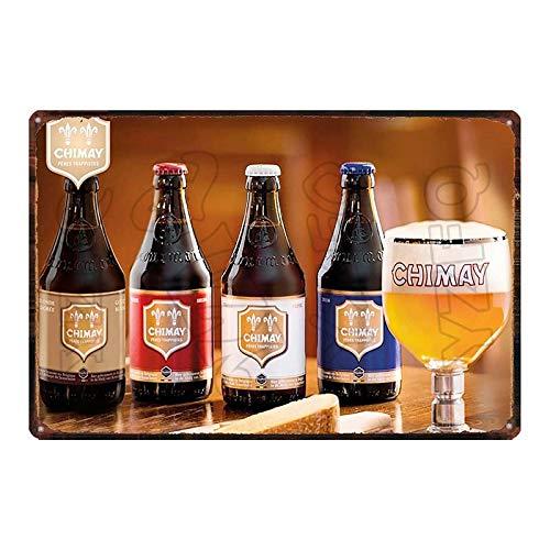 ALLYAOFA Vintage Beer Metal Sign Botella De Vino Metal Tin Sign Bar Home Art Placa De Decoración De Pared 8x12 Pulgadas Du-6199