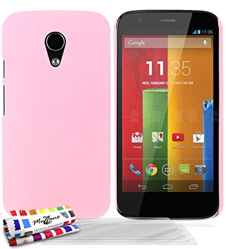 Muzzano F2085438 - Funda para Motorola Moto G segunda generación + 3 protecciones de pantalla, color rosa