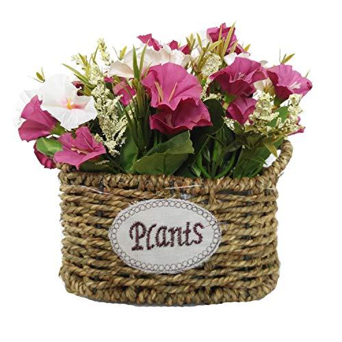 Cesta de flores de seda artificial, arreglos florales, centros de mesa de flores falsas, regalo para bodas, hogar, cocina, jardín, sala de estar, hotel, oficina, fiesta, decoraciones florales, negro