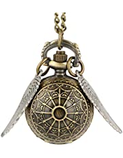 Balacoo Retro Pocket Watch Classic Mechanical Hand- Wind Steampunk Fob Watch Jewelry Pocket Watch with Chain Necklace for Men Fathers Day Boyfriends Birthday Gifts