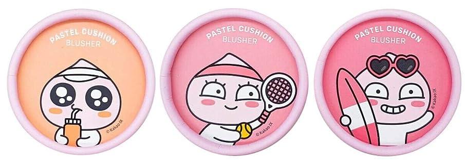早く戸棚ゲインセイ[ザ?フェイスショップ] THE FACE SHOP [アピーチ パステル クッション ブラッシャー6g] Apeach Pastel Cushion Blusher 6g [海外直送品] (#02. Lalala Coral Pink)