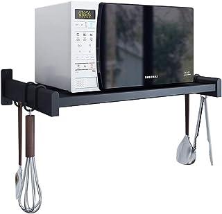 XI FA Tablette De Cuisine - Support De Four à Micro-Ondes, Support De Four Noir Domestique, Rangement Multifonctionnel, Po...
