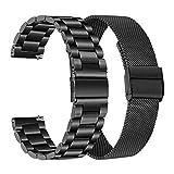 TRUMiRR Compatible con Amazfit GTR 2e Correa, 22mm Correa de Reloj de Acero Inoxidable de Malla Tejida para Amazfit GTR 2e/ GTR 2/Smartwatch GTR 47mm