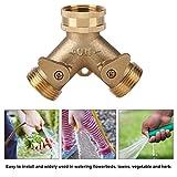 """3/4"""" Y type Robinet Répartiteur, 2 voies pour tuyaux d'arrosage de jardin ou de ferme, Adaptateur..."""