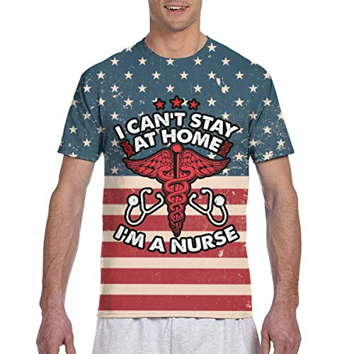 Stay at Home Stop Coronavirus Men's Short Sleeve T-Shirt Top Tee Black