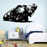 BJWQTY Pegatinas de Vinilo para Pared de Motocicleta de Dibujos Animados para decoración de Habitaciones Infantiles Pegatinas de Pared Impermeables