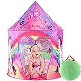 Tacobear Princesa Tienda Campaña Infantil Niñas Princesa Unicornio Carpa Infantil Niñas Portátil Tienda Pop Up Casa de Juegos para Interiores y Exteriores con Bolsa de Transporte