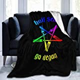 fgdhfgjhdgf Hail Seitan - Go Vegan Super Soft Blanket for Winter All Season Warm Micro Fleece Lightweight Fleece Blankets for Couch Bed Sofa 50'x40'/60'x50'/ 80'x60'