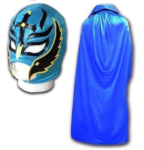 fils du diable Masque de Turquoise et bleu Cape Adulte Luchador Mexican Wrestling Lot