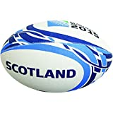 Gilbert Men's Officielle RWC 2015 Scotland Ballon de Rugby Supporter-Multicolore-Taille 5