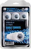 Pelotas de Ping Pong Tennis Mesa, 3estrellas 40mm Pelotas para Entrenamiento Avanzado, blanco