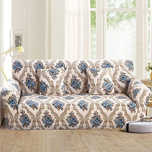 WUFANGFF Sofa-plaid sofa - beschermhoes vaste wrap all-inclusive anti-slip snit elastische volledige hoekbank afdekking L-vormige bank 1/2/3/4-zits 1 Sitz (90-140 cm)