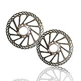 2 Piezas Rotores de Freno de Disco de Bicicleta Discos de Freno de Disco Flotante Disco de Bicicleta 160mm Rotores de Bicicleta de Acero Inoxidable para Bicicleta de Carretera Montaña BMX
