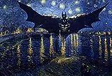 DIY Vorgedruckt Leinwand-Ölgemälde - Batman - Malen Nach Zahlen Geschenk Für Erwachsene Kinder Malen Nach Zahlen Kits Home Haus Dekor - 40X50 cm