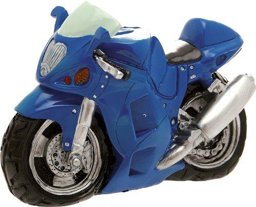Hucha de moto color azul de 23 cm (en fibra de vidrio – No es un juego) (Envío fijo Euro 11,90 – Puede añadir otros artículos en el mismo pedido hasta un peso total de 40 kg)