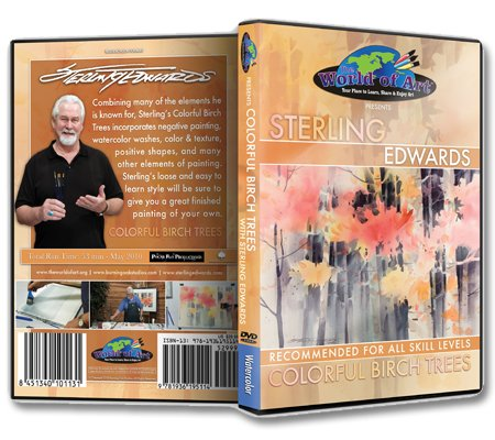 Sterling Edwards - Video Art Lessons 'Colorful Birch Trees' DVD