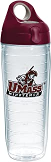 Tervis Umass Minutemen Insulated Tumbler with Emblem and Maroon Lid, 24 oz, Clear
