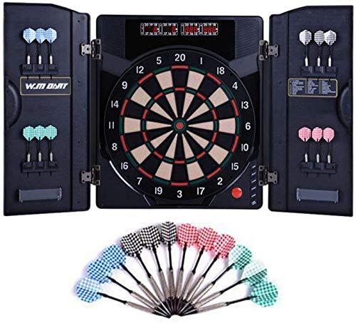 IG Electronic Dartboard Professional, Dart Board-Games 18 Spiele Und 159 Optionen Mit 6 Safety Darts Set,Schwarz