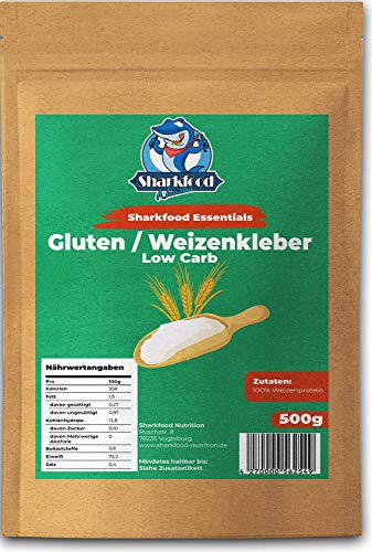 Premium Weizenkleber 500g | Lower Carb Mehlersatz | Weizenprotein | Gluten | Weizengluten | Seitan Basis 500 g