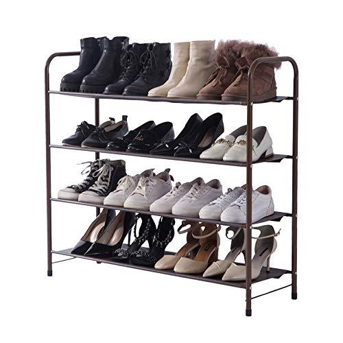 UDEAR Zapatero Independiente en el Hall de Entrada de, Cada Capa Puede almacenar Cuatro Pares de Zapatos, marrón, Cuatro Capas