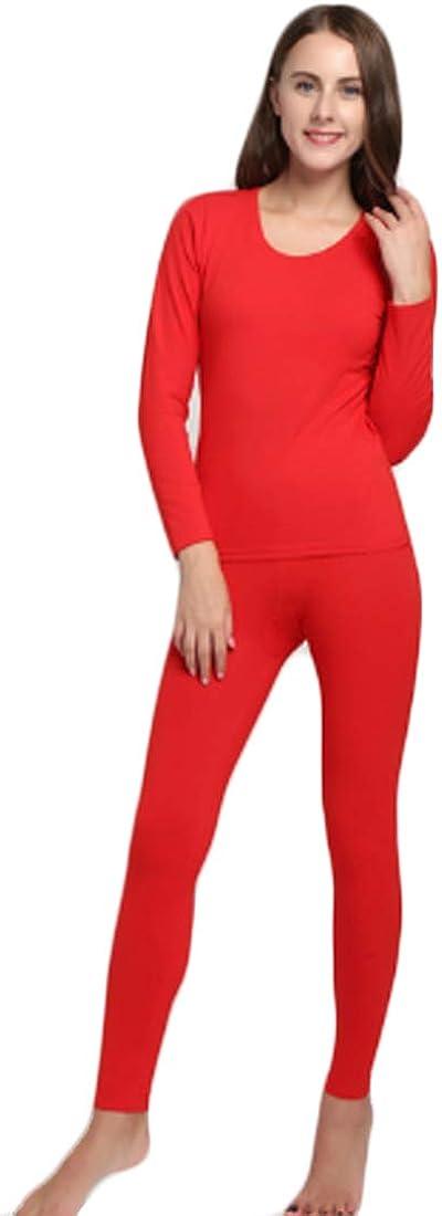 Inlefen Women's Thermal Underwear Sets Soft Winter Ladies Long Johns