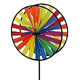 CIM Juego de Viento - Magic Wheel Twin 35 - Resistente a Rayos UV/Resistente a la Intemperie - Rueda de Viento 2X Ø35cm/ Altura 65cm - Vara de Vidrio incluida