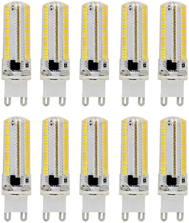 Light G9 Dimmbare Silikon-Maisbirne 3014 SMD 152LED Energiesparlampe 7W (70W Halogen-quivalent) LED-Birne für die Hauptbeleuchtung AC 220V (10 Stück) Langlebig und von hoher Qualitt